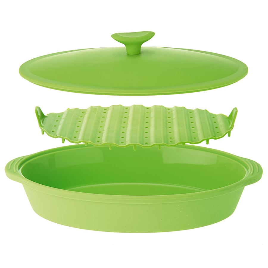 Silicone Oval Food Steamer_SI32_0