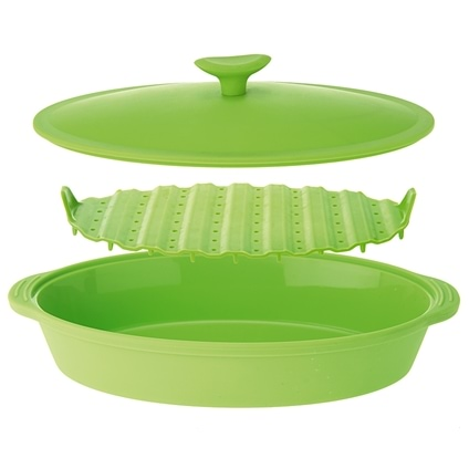 Silicone Oval Food Steamer